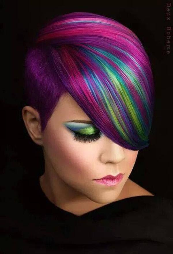 30 Hot dyed hair Ide