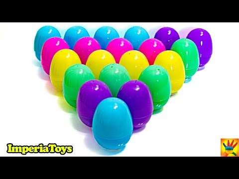 21 eggs surprise with many interesting toys