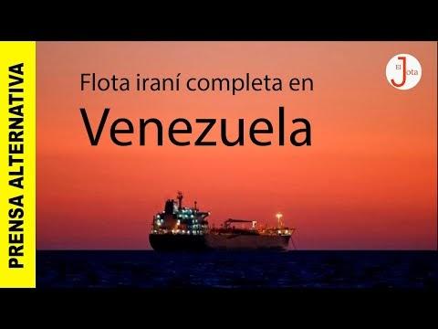 Flotilla iraní rompe bloqueo y lleva gasolina para población venezolana