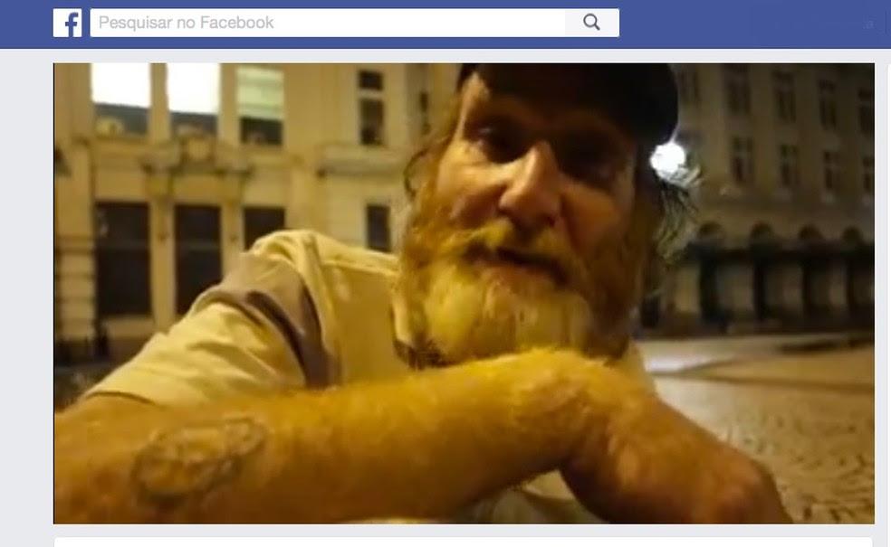 Carlos Eduardo Albuquerque Maranhão, o Sarda, em vídeo divulgado em janeiro deste ano (Foto: Facebook/Reprodução)