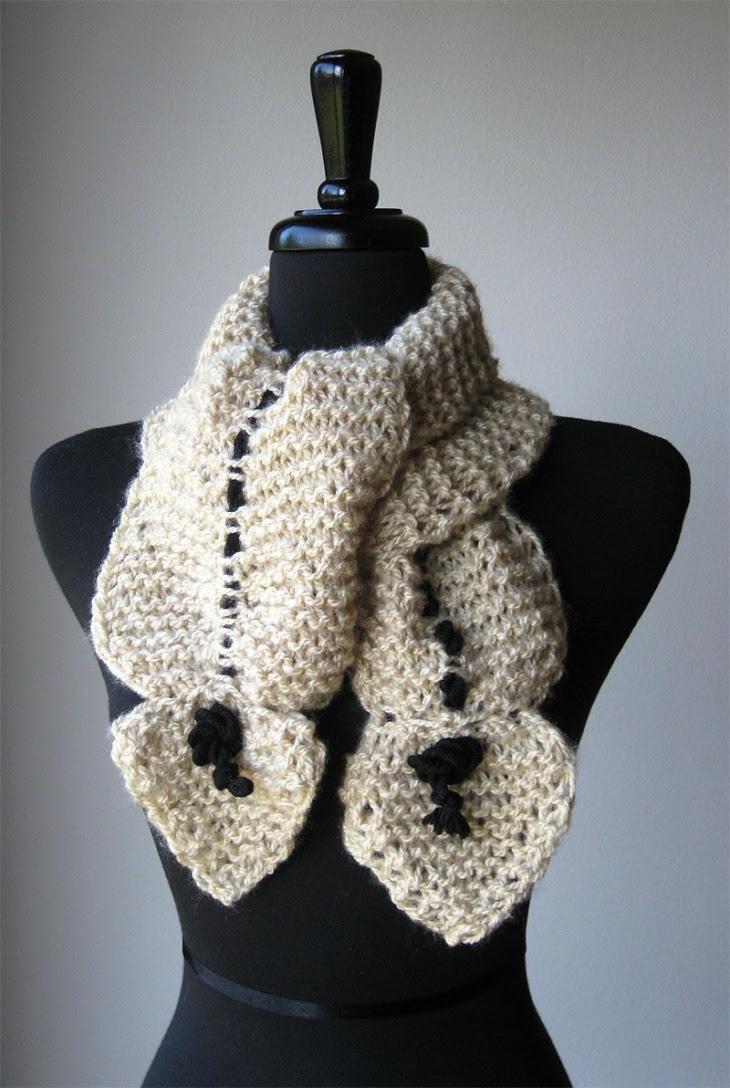 Вязаный шарф-трансформер