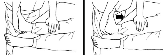 Illustration of an exercise for the ankles