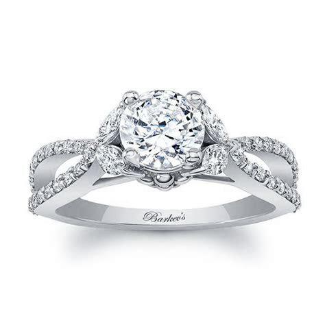 Barkev's White Gold Engagement Ring 8062L   Barkev's