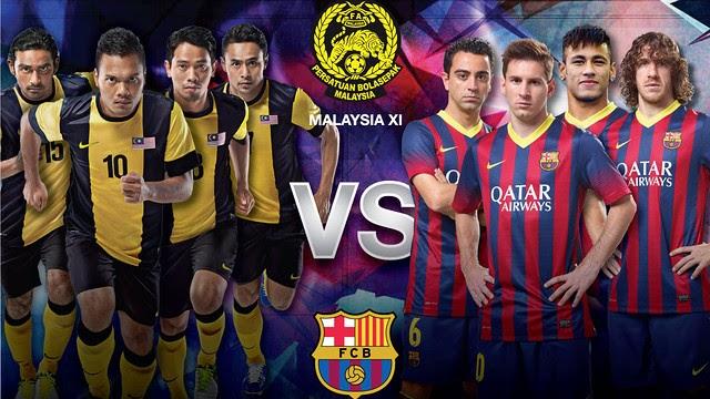 Barcelona Kalahkan Malaysia 3-1