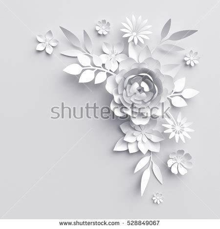 3 D Render Digital Illustration White Paper Stock