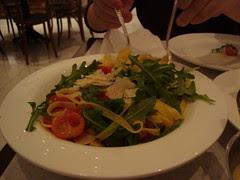 Fettucine w Arugula, Tomatoes & Parm Cheese