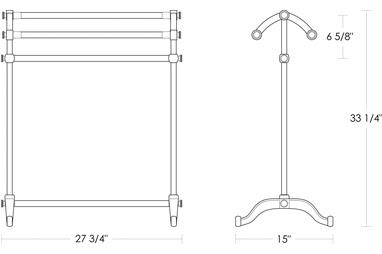 Urban Archaeology Free Standing Towel Rack Metal Bars Ua2102 M Ba