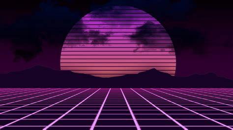 retrowave abstract neon landscape  ultrahd wallpaper