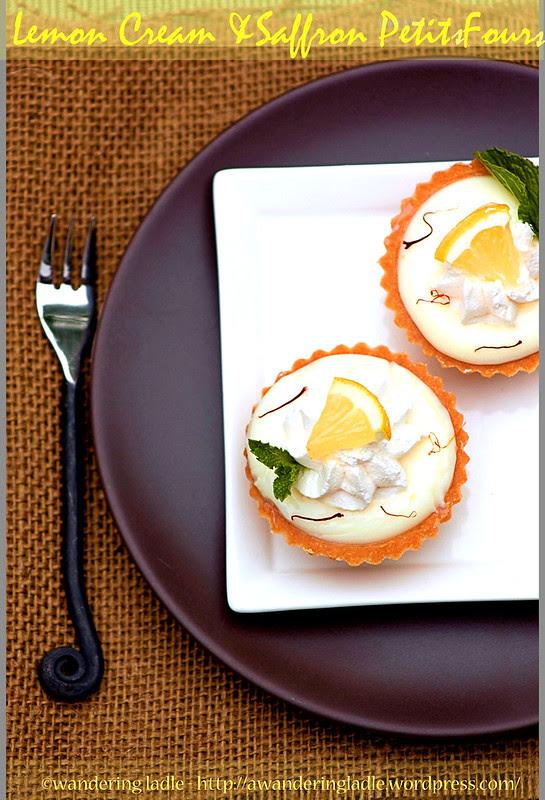Lemon Cream and Saffron Petits Fours
