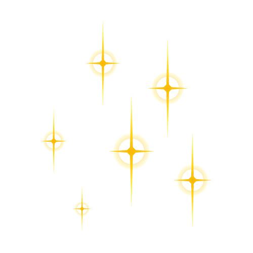 輪っか状にキラキラ光るイラスト 無料商用可能マンガ素材 イラレ