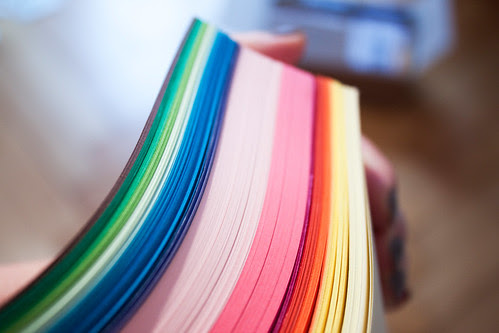 all colors of paper