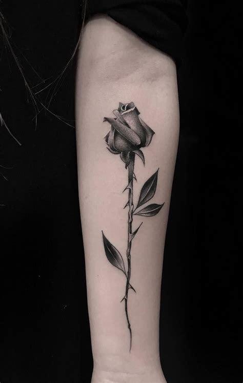 awesome black gray rose tattoo tattoo artist luigi