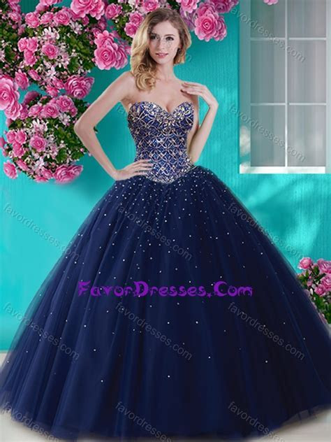 Artistic Big Puffy Tulle Sweet 16 Dress with Beading and