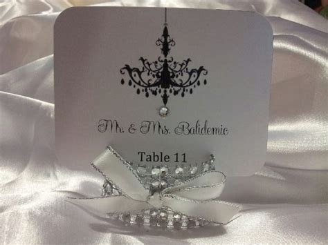Bling Place card, escort card holders with any color bow