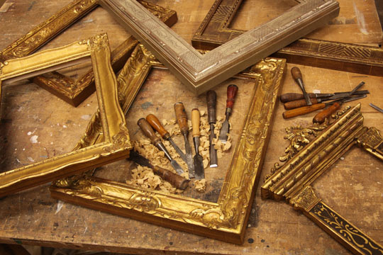 Hand Carved Gold Leaf Frames Casa California Art Services Allaiance