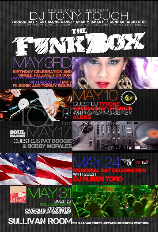 May Line Up @ The Funk Box