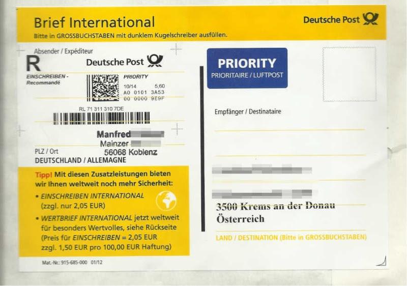 Deutsche Post Brief Preise Einschreiben