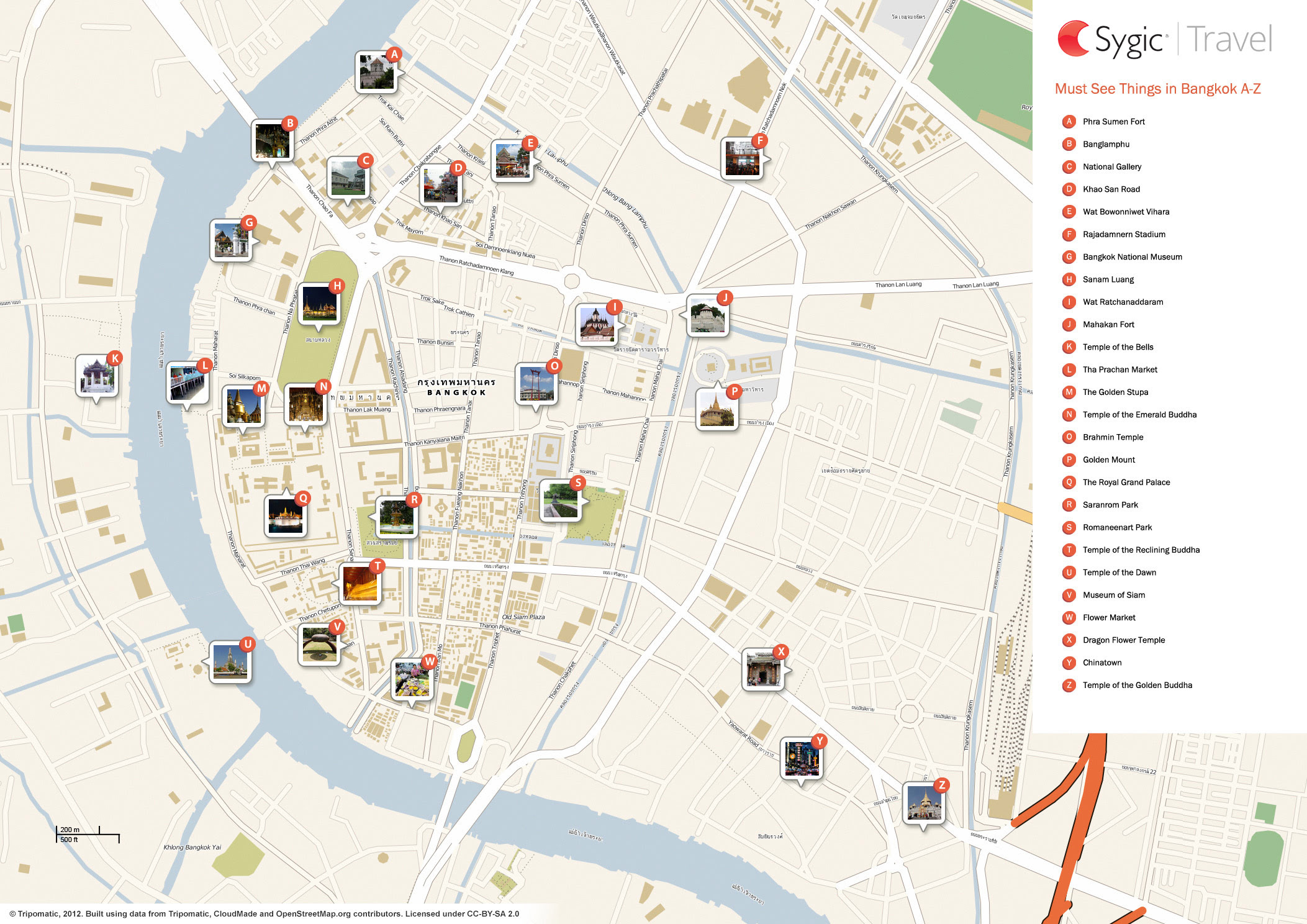 Complete Tourist Attractions Map of Bangkok Thailand,Bangkok Thailand Tourist Attractions Map,things to do in bangkok,Wat Arun the Grand Palace Wat Pho Rattanakosin island Wat Ratchanaddaram Wat Suthat Golden Mount Siam Square Dusit Palace National Museum Silom location map