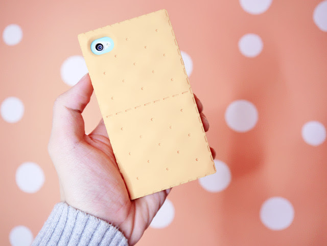 yellow biscuit iPhone cover back view typicalben