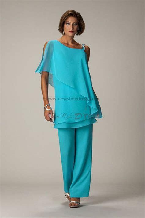 green latest fashion chiffon mother   bride pants