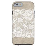 Vintage Burlap & Lace iPhone 6 case