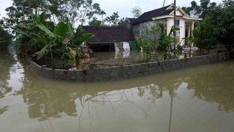 Lũ đã khiến nhiều khu vực ở Quảng Bình ngập nặng hồi giữa tháng 10/2016