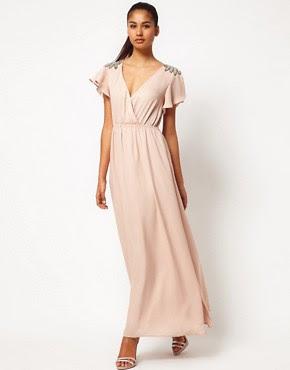Image 4 ofJarlo Embellished Shoulder Maxi Dress