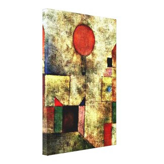 Paul Klee art: Red Balloon Stretched Canvas Prints