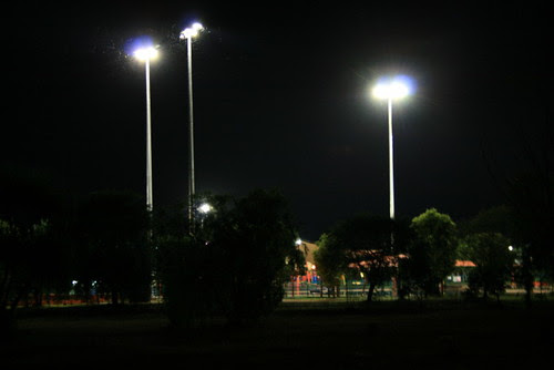 Light towers Leanyer water park