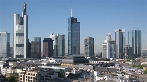 full hd wallpaper frankfurt landscape skyscraper side view