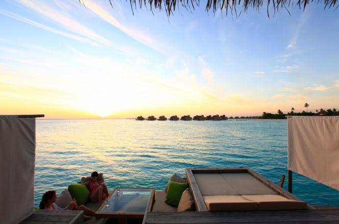 sunset deck maldives