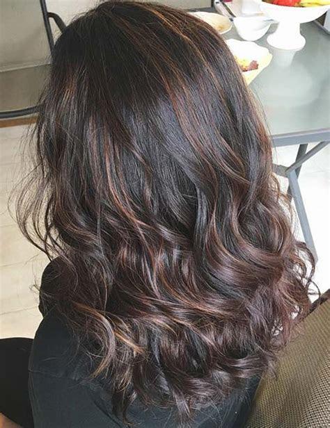 highlight ideas  dark brown hair