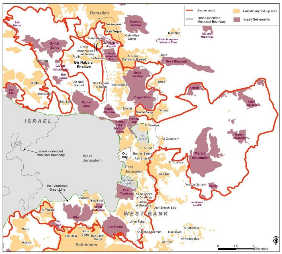 Risultati immagini per jerusalem map 2016