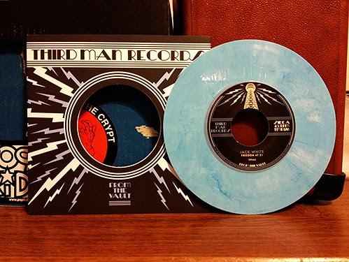 "Jack White - Freedom At 21 Demo 7"" - Blunderblue Vinyl by Tim PopKid"