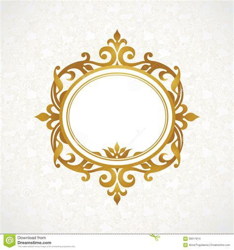 Vector Decorative Frame In Victorian Style. Stock Vector