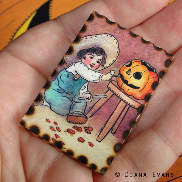 vintage halloween pins carver