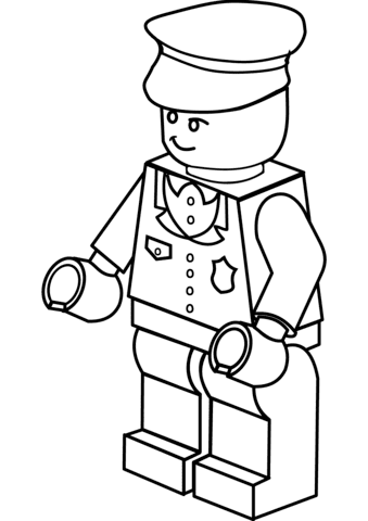 lego policeman coloring page  free printable coloring pages