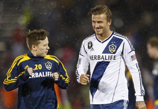 Brooklyn e David Beckham (Foto: Getty Images)