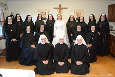 The Sisters, Slaves of the Immaculate Heart of Mary on the Profession Day of Sister Mary Imelda, September 8, 2014. Saint Benedict Center, Still River MA www.saintbenedict.com facebook.com/SistersMICM