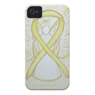 Yellow Awareness Ribbon Angel Custom iPhone Case iPhone 4 Case-Mate Cases