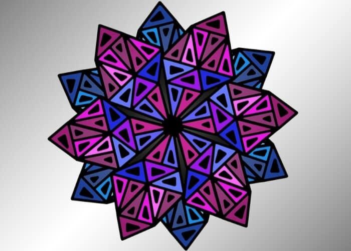 30 Motif Geometris Batik Dinding Segitiga Sederhana Mudah