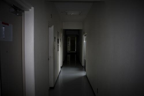 cold, dark hallway