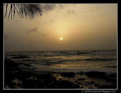 Sunset at Anjuna Beach 1