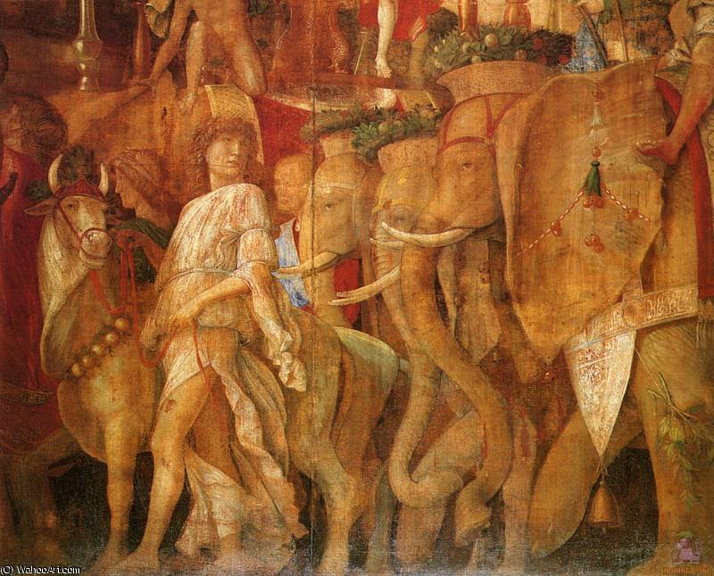 Triunfos de César (escena 5) - (1.500), 1500 de Andrea Mantegna (1431-1506, Italy)