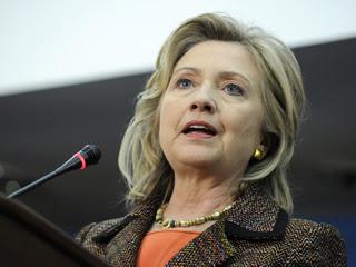 La secretària d'Estat dels Estats Units, Hillary Clinton, fent un discurs. (Foto: Reuters)