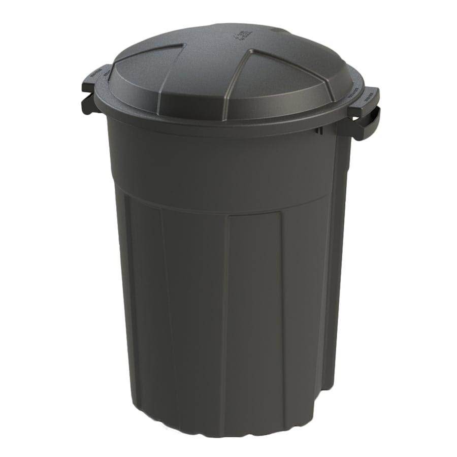 Shop Blue Hawk 32-Gallon Black Outdoor Trash Can at Lowes.com
