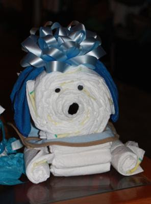 Baby Boy Diaper Cakedog Diaper Cake