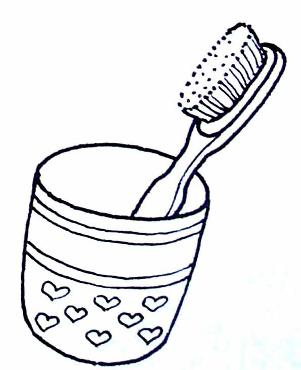 Coloriage Brosse à Dents