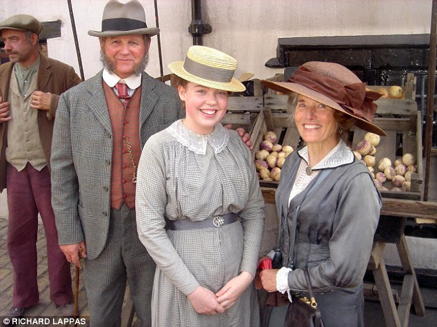 Extra special: Captain Arthur Budgett's great-granddaughter Vanessa with War Horse author Michael Morpurgo and his wife Clare on set