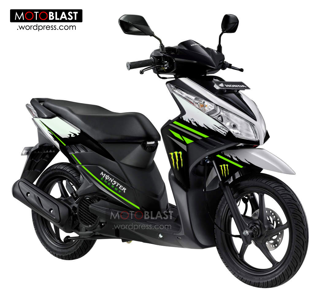 Modif Vario Techno 110 Striping Ala Monster Energy MOTOBLAST